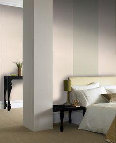 30-389 Kelly Hoppen Bold Stripe Mocha,Beige Stripe Wallpaper | Graham & Brown