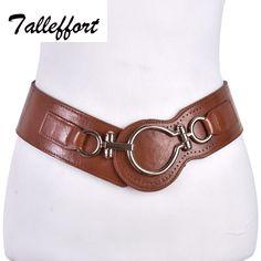 2016 belt woman leather wide elastic belts for women dress