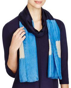 Eileen Fisher Color Block Silk Scarf