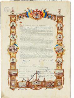 România Documente Istorice Facsimil: Actul de Independență 1877-Facsimil 3D