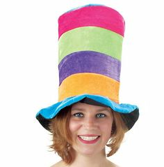 Tall Multi Color Hat Photobooth Props