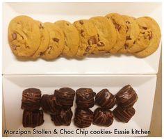 Marzipan stollen & choc chip cookies