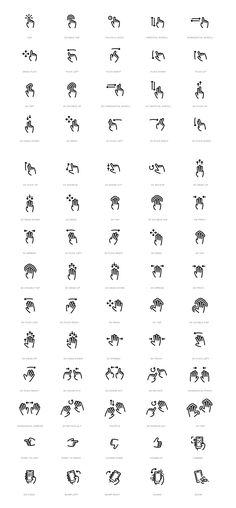 Gesture Icon Set by WordPress Design Awards, via Behance Web Design, Icon Design, Logo Design, Ui Elements, Design Elements, Sketch Note, User Experience Design, User Interface Design, App Icon