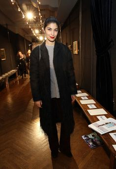 Caroline Issa attends Sachin & Babi Front Row during New York Fashion Week at The National Arts Club on February 10, 2017 in New York City.