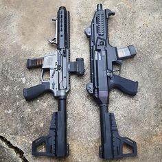 Repost from @joe78577 9mm pistols. #newfrontierarmory #sidechargingupper #9mm #subgun #arpistol #strikeindustries #czscorpion #kakindustries #shockwaveblade #etsgroup #2a #holosun #czusa #pistol