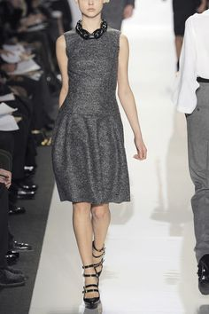 Runway To Everyday: Cute Dress from Michael Kors on January 19, 2011 @ 18:00: Melange gray wool felt dress come into the runway