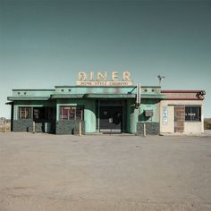 Diner, photography by Marco Castilla. I used to love to find diners like these when we traveled. They had great food and the ambiance was awesome.