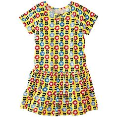 Play Nice Dress from Nice Dresses, Girls Dresses, Little Fashionista, Everyday Dresses, Hanna Andersson, Fashion Prints, Toddler Girl, Kids Fashion, Short Sleeve Dresses
