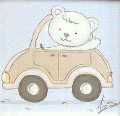 Aida Zamora - Art for kids. Custom paint. Cuadro infantil personalizado. Teddy drive