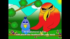Bullying example with a traditional French song--Alouette, gentille alouette - alain le lait (French body parts - for birds)