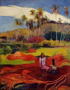 Paul Gauguin (Tahiti) Tahiti altında olan Kadınlar Avuç içi satılık yağlı boya