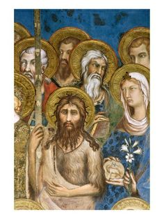 Detail of Saints and Martyrs from Maesta by Simone Martini.