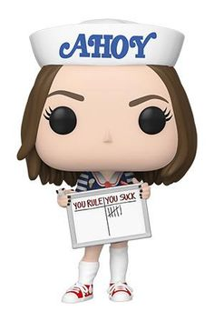Celebrate Season 3 of Stranger Things with Pop! Robin Buckley wearing her Scoops Ahoy uniform and Pop! Alexei the Russian scientist, the perfect companions for a wild adventure. Stranger Things Funko Pop, Stranger Things Season 3, Stranger Things Netflix, Stranger Things Stuff, Stranger Things Merchandise, Funko Pop Toys, Funko Pop Vinyl, Vinyl Toys, Pop Vinyl Figures