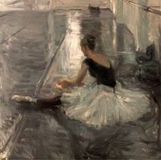 """Dancers in Silvers and Greys. Quang Ho was born in in Hue, Vietnam. He immigrated to the United States in Regarding his painting style the artist says, """"Realism and. Ballet Painting, Dance Paintings, Figure Painting, Painting & Drawing, Ballerina Art, Ballet Art, Ballet Dancers, Contemporary Ballet, Dance Art"""