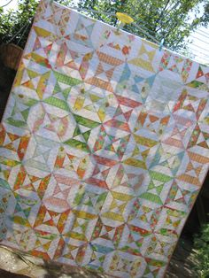 'Double Hourglass' Quilt by @Aneela Hoey of #Comfortstitching using Dream On (Moda)