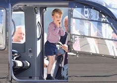 The little royal looked beside himself as he was given a tour of the cockpit and all the controls inside the helicopter. The family are sayingAuf Wiedersehen Deutschland after a hugely successful royal tour