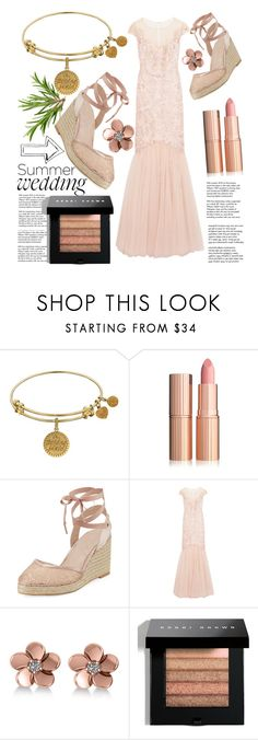 """""""the brides maid"""" by vxrnish ❤ liked on Polyvore featuring Tiffany & Co., Adrianna Papell, Notte by Marchesa, Allurez and Bobbi Brown Cosmetics"""
