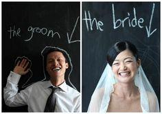 chalkboard, bride, groom, chic #wedding