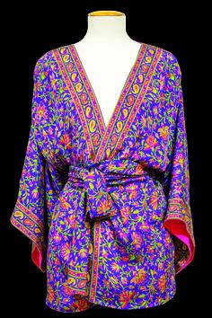 kimono de semi-seda forrado JULUNGGUL www.julunggul.com semi-silk kimono Hecho en España