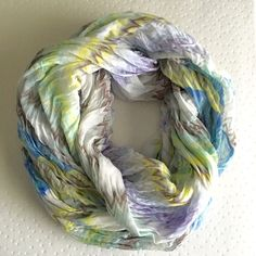 """☀️SALE🚨 colorful infinity scarf. New with tags. Great colors and pattern. Infinity style.   ❌ No trades or off Poshmark transactions.   👌🏻Quick shipping.   💁🏻Offers welcome through """"Make an Offer"""" feature.   👗👠 Bundle discount.   ❔ Feel free to ask any questions. Accessories Scarves & Wraps"""