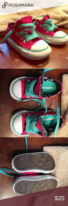 Size 4 (toddler) converse! Worn once! Not outside! Looks new.. May have been worn once toddler size 4 converse shoes. Converse Shoes