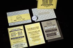Silkscreen and Stamped Wedding Stationery. I love good paper. Retro Wedding Invitations, Wedding Invitation Inspiration, Wedding Invitation Design, Wedding Stationery, Wedding Inspiration, Invitation Paper, Invitation Suite, Print Invitations, Brochure Design Inspiration