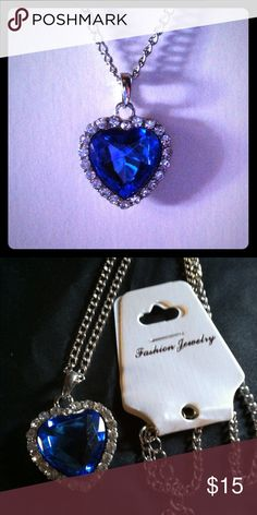 🔴must go🔴Heart of the Ocean new Fashion jewelry , heart of the ocean from titanic⬛️price is firm Jewelry Necklaces