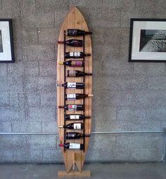 Surfboard Decor, Surf Decor, Surfboard Storage, Decoration Surf, Deco Surf, Surf House, Surf Shack, Wine Storage, Beach House Decor