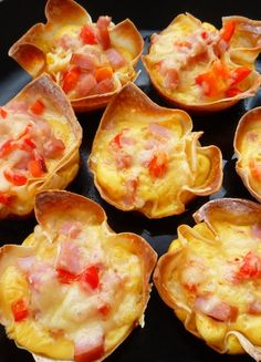Cheesy Breakfast Toast  Cups from All Whites Egg Whites--25 breakfasts under 300 calories!