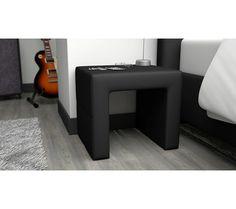 lit 90x190 cm brooklyn coloris noir vente de lit b b conforama chambre hollywood pinterest. Black Bedroom Furniture Sets. Home Design Ideas