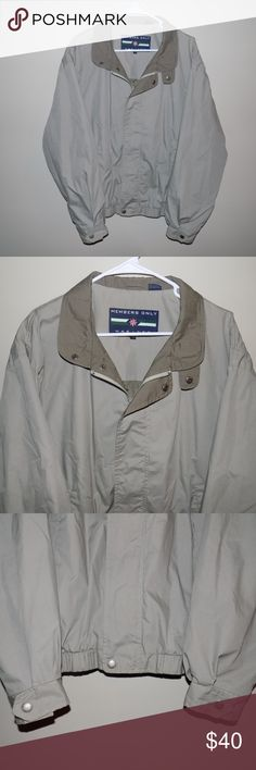Vintage Men's Members Only Zip Up Jacket Vintage Men's Members Only Zip Up Jacket. Still in perfect (10/10) condition! Members Only jackets have such a clean look, perfect for any occasion! It is a lighter jacket perfect for the approaching spring season! Members Only Jackets & Coats