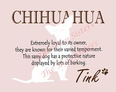 Chihuahua Print Dog Choose Breed Personalize by TheShopSisters