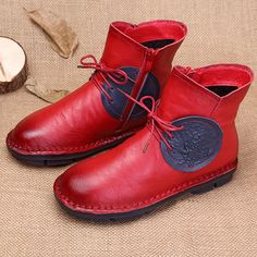 Phoenix Comfortable Leather Vintage Boots