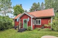 Swedish Cottage, Red Cottage, This Old House, Tiny House, Sweden House, Red Houses, Cabins And Cottages, Log Homes, Sweet Home