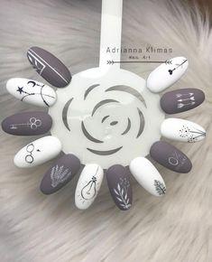 70 uñas de acrílico llamativas y de moda, uñas mate, diseño de uñas brillantes que deberías probar en Prom ...