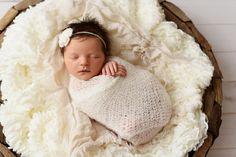 SET Off White Mohair Knit Baby Wrap and Headband | Beautiful Photo Props