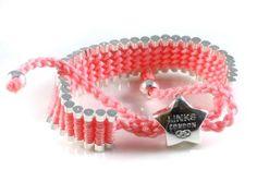 Links of London Friendship Bracelet Star Pink