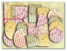 Floral Stripes Paper Kit
