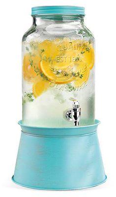 Blue Galvanized Drink Dispenser