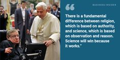 On science and religion: