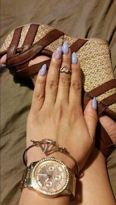 Lavender stiletto nails
