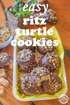 Easy Ritz Turtle Cookies