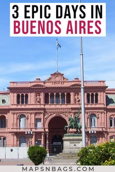 Your COMPLETE 3 days in Buenos Aires itinerary. It includes tips on where to go, eat, and stay! Bucket List Before I Die, Argentina Travel, South America Travel, Group Travel, Travel Tips, Travel Guides, Travel Destinations, France Travel, Romantic Travel