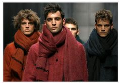 men on the runway