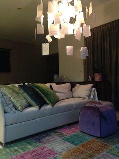 Dubai flat tv couch