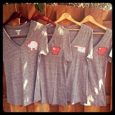 Cute Arkansas and Razorback shirts by TwoGensCreations on Etsy, $25.00