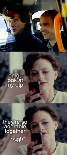 Because even Irene Adler shipped them like FedEx.    I do not endorse or approve of the Johnlock ship. I do, however, approve of humor, and this amuses me.