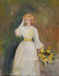 Fine Art Print of Lady with the Yellow Bouquet by JBeaudetStudios