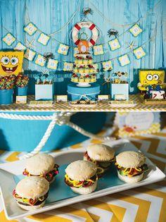 Fantastic Spongebob Squarepants Birthday Party // Hostess with the Mostess®