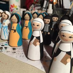 Catherine of Siena, Frances Cabrini, Our Lady of Guadalupe, Anne and Our Lady of Lourdes..